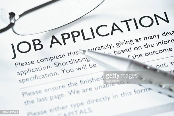 Close-up of Job Application