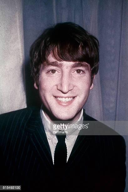 Closeup of John Lennon made in 1963