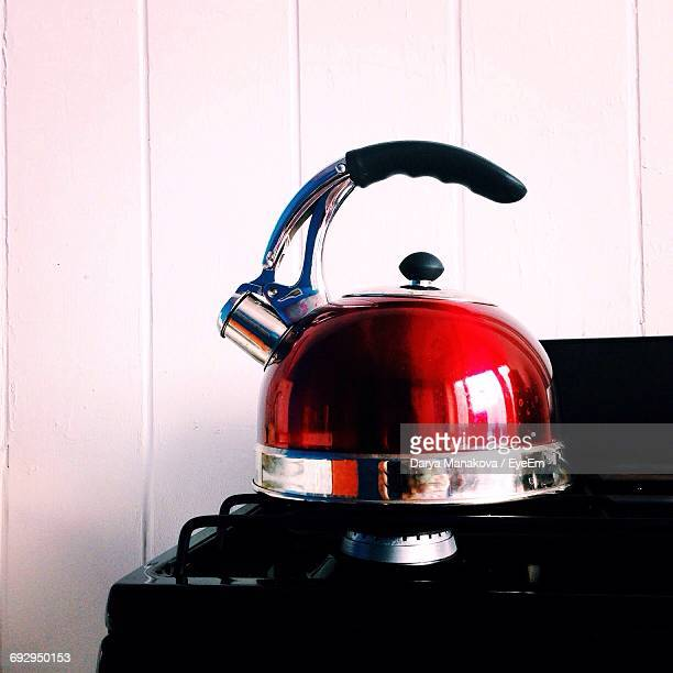 Close-Up Of Kettle On Stovetop