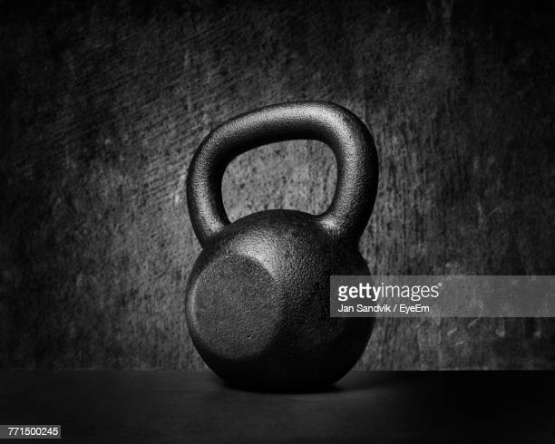 Close-Up Of Kettlebell On Table