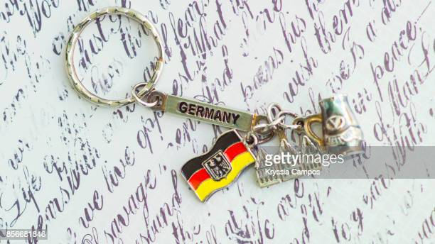 Close-up of Keychain Souvenir from Germany