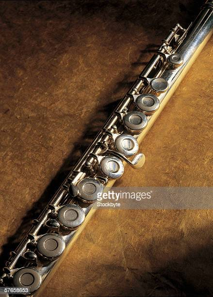 close-up of keys of a clarinet
