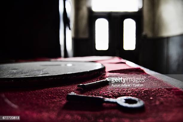Close-Up Of Keys On Table