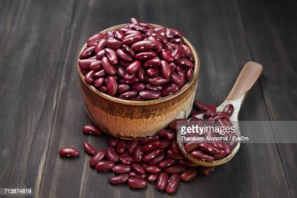Close-Up Of Kidney Beans In Container