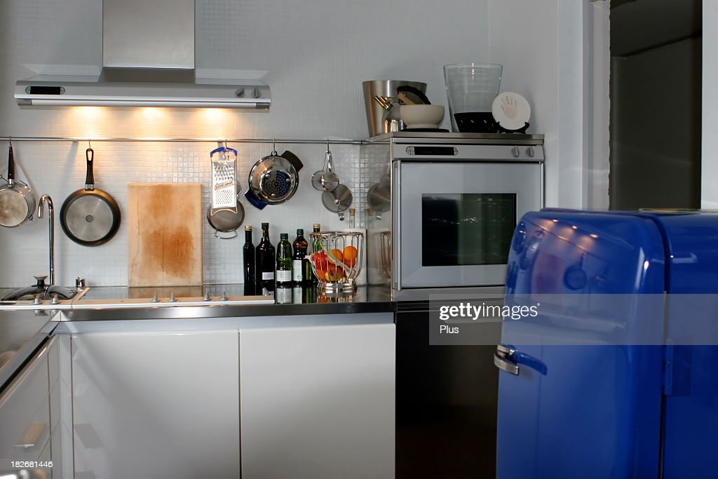 Close Up Of Kitchen With All Kitchen Necessities : Stock Photo