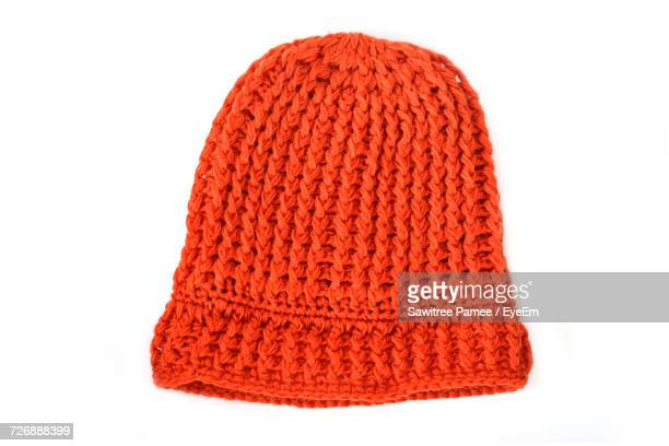 Close-Up Of Knit Hat On White Background