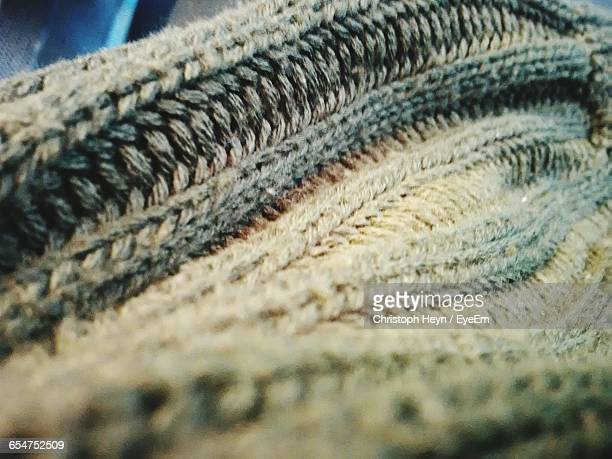 Close-Up Of Knitted Hat