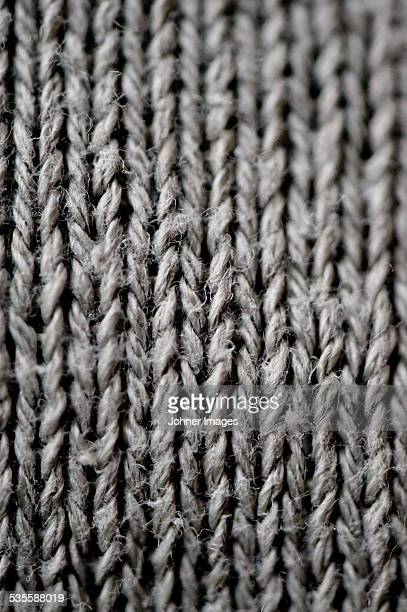 Close-up of knitting material
