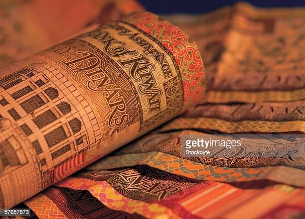 Close-up of Kuwaiti bank notes (toned)
