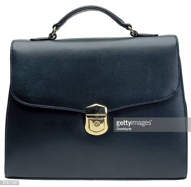 close-up of ladies handbag