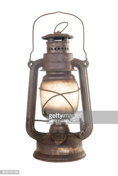 Close-Up Of Lantern Against White Background