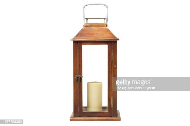 close-up of lantern on white background - lantern stock pictures, royalty-free photos & images