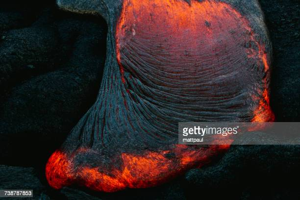 Close-up of Lava Flow on a mountain, Hawaii, America, USA