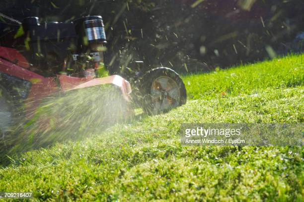 close-up of lawn mower - lawn mower stock pictures, royalty-free photos & images