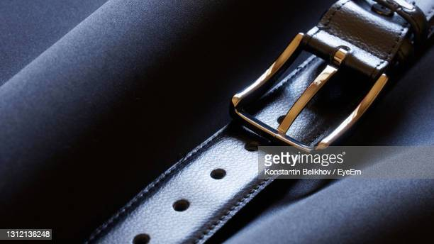 close-up of leather belt - leather belt stock pictures, royalty-free photos & images