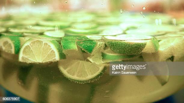 Close-Up Of Lemon Drink In Bowl
