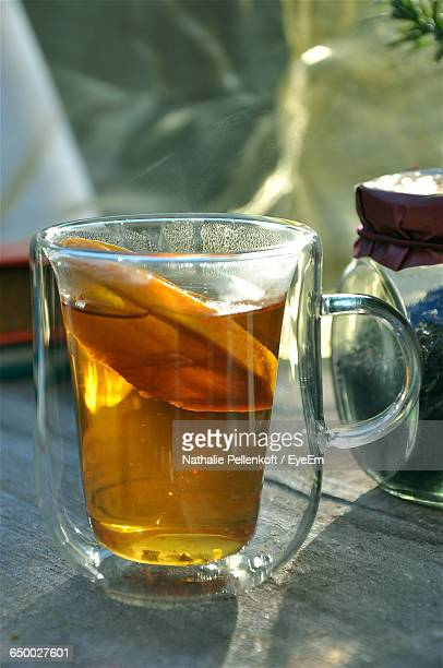 close-up of lemon tea on table - nathalie pellenkoft stock pictures, royalty-free photos & images