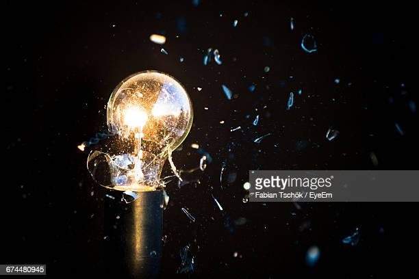 Close-Up Of Light Bulb Exploding