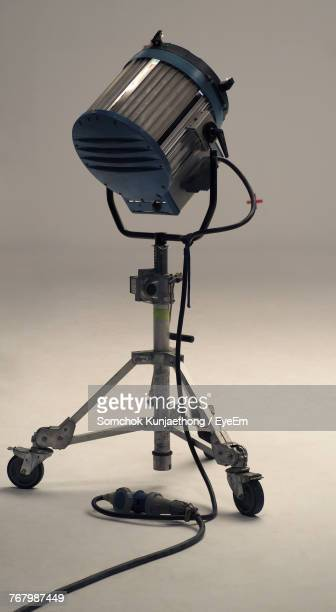 Close-Up Of Lighting Equipment Against White Background