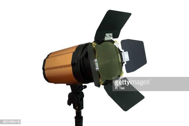 close-up of lighting equipment against white background - spotlight filme - fotografias e filmes do acervo