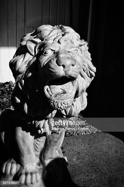 Close-Up Of Lion Statue Outdoors