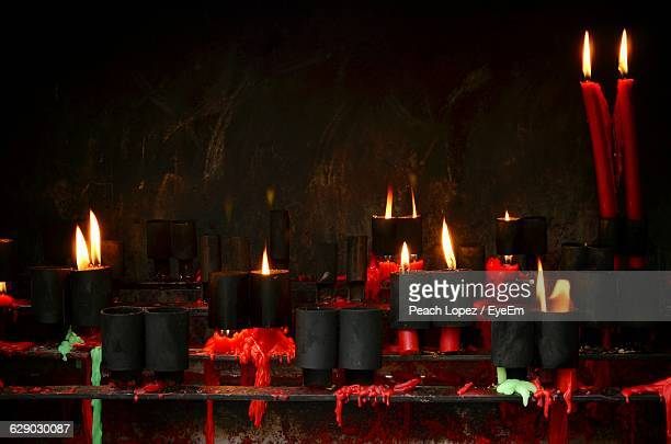 close-up of lit candles - lopez stock pictures, royalty-free photos & images