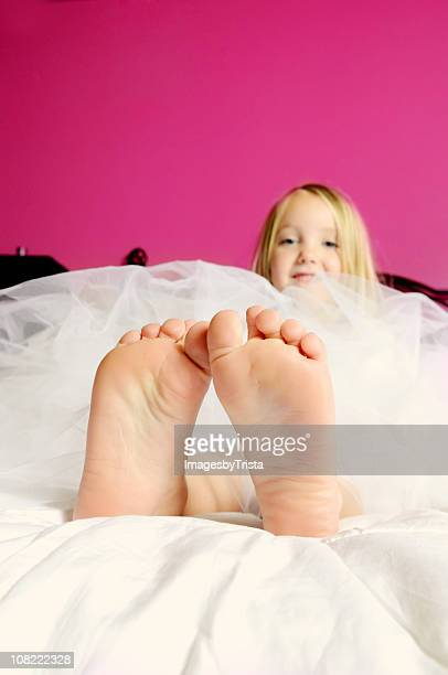 Close-up of Little Girl's Toes