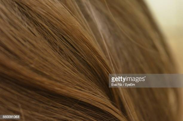 Close-Up Of Long Brown Hair