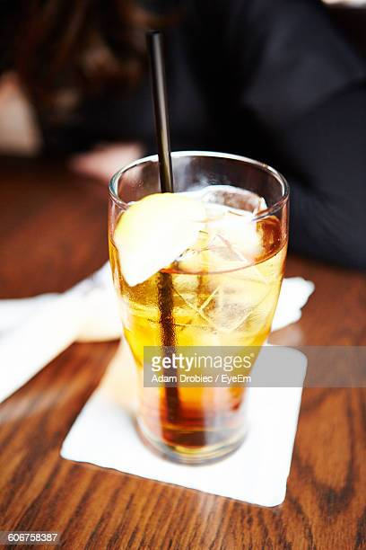 Close-Up Of Long Island Ice Tea On Table