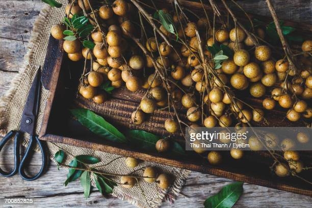 Close-Up Of Longan Fruit On Tray