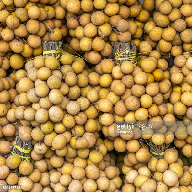 Close-up of Longan fruits