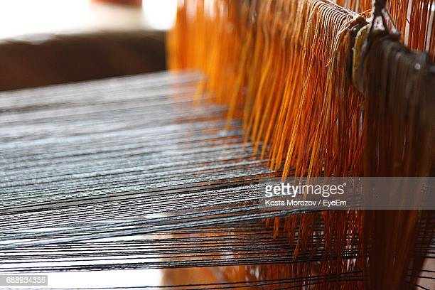 close-up of loom - loom stock pictures, royalty-free photos & images