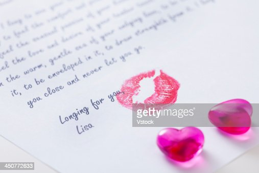 closeup of love letter stock photo  getty images