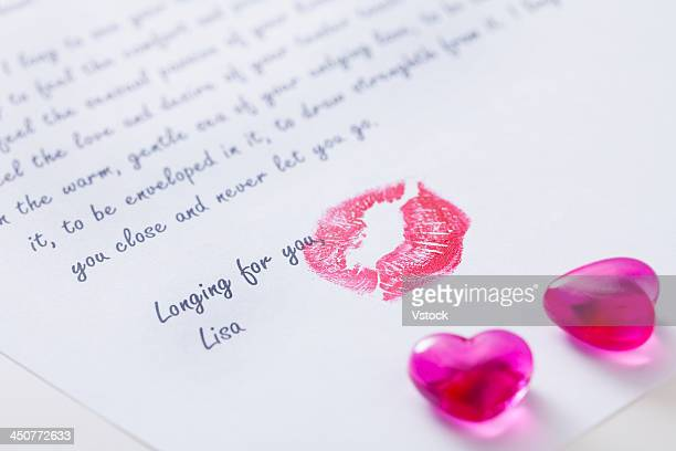 Close-up of love letter