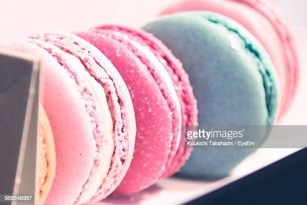 Close-Up Of Macaroons On Plate
