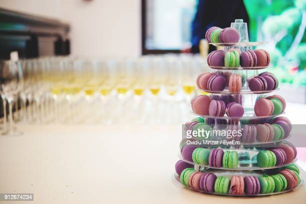 close-up of macaroons on table - eyeem collection stock pictures, royalty-free photos & images