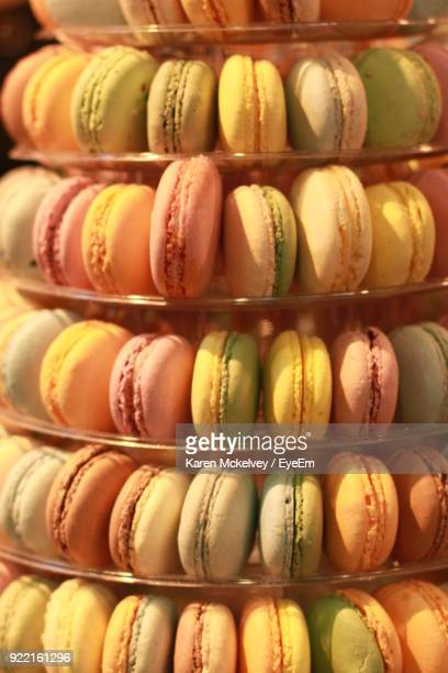 close-up of macaroons - karen price stock pictures, royalty-free photos & images
