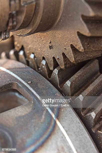 Close-Up Of Machine Gear In Industry