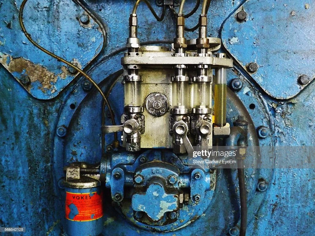 Close-Up Of Machine In Factory : Stock Photo