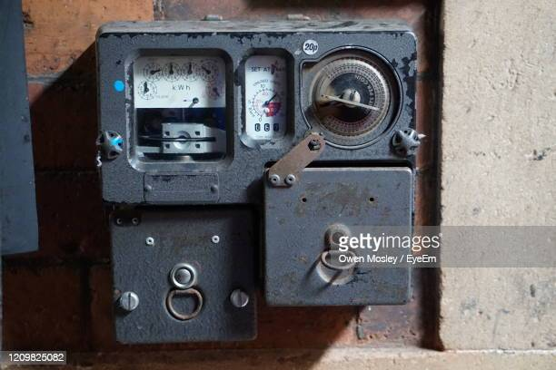 close-up of machine part on wall - carlisle stock pictures, royalty-free photos & images