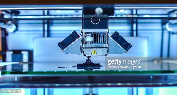 close-up of machine part - 3d printing stock pictures, royalty-free photos & images