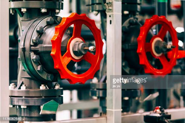 close-up of machine valve - wheel stock pictures, royalty-free photos & images