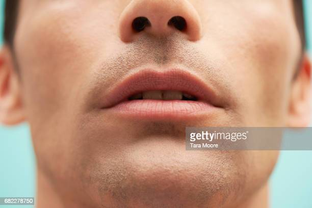 closeup of male lips