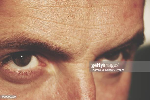 Close-Up Of Man Eyes
