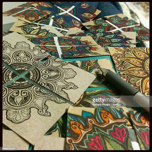 Close-Up Of Mandala Designs