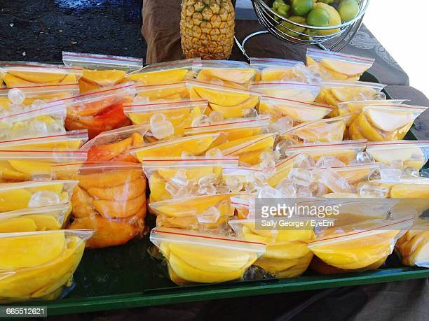 Close-Up Of Mango Slices For Sale