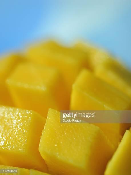 Close-up of mango slices