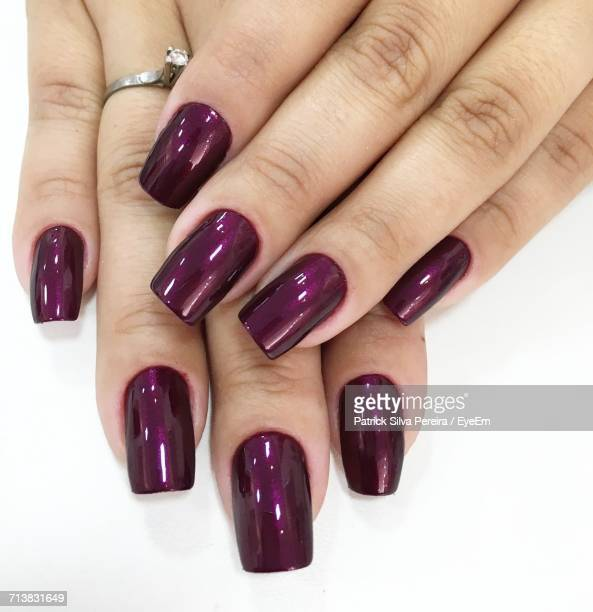 Close-Up Of Manicured Nails