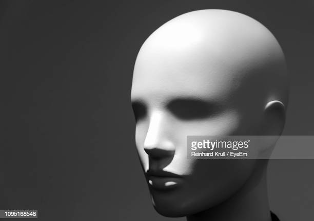 close-up of mannequin against black background - mannequin stock pictures, royalty-free photos & images