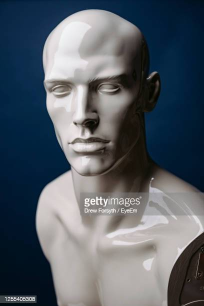 close-up of mannequin at store - male likeness stock pictures, royalty-free photos & images